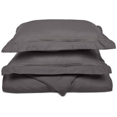 Granger Duvet Set Size: Full / Queen, Color: Charcoal