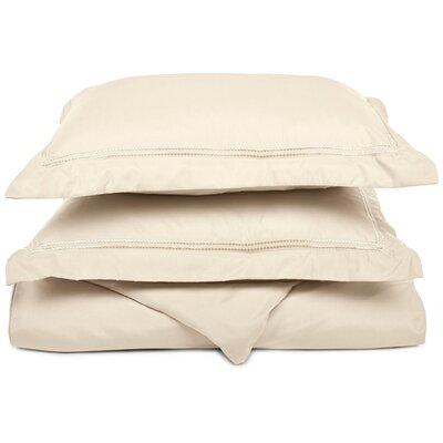 Granger Duvet Set Color: Ivory, Size: Twin / Twin XL