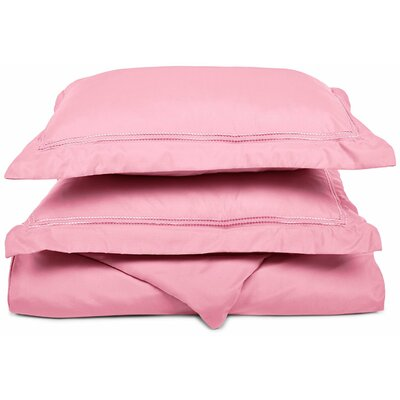 Garrick Duvet Set Size: King / California King, Color: Pink