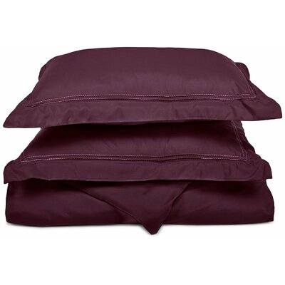 Granger Duvet Set Size: King / California King, Color: Plum