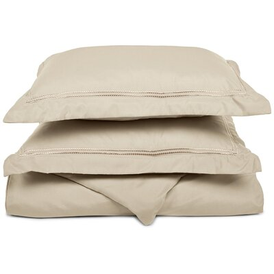 Garrick Duvet Set Size: Full / Queen, Color: Tan