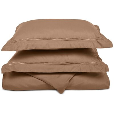 Granger Duvet Set Color: Taupe, Size: Twin / Twin XL