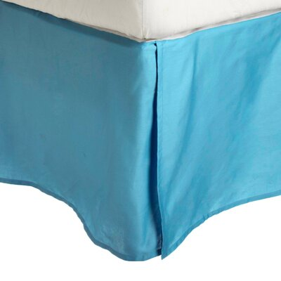 Granger Solid Bed Skirt Size: King, Color: Aqua