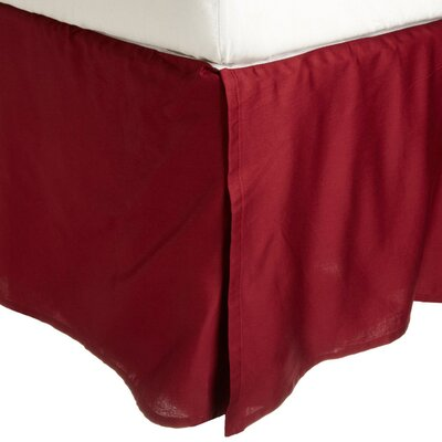 Granger Solid Bed Skirt Color: Burgundy, Size: Queen