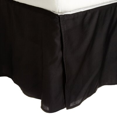 Garrick Solid Bed Skirt Size: Twin XL, Color: Black