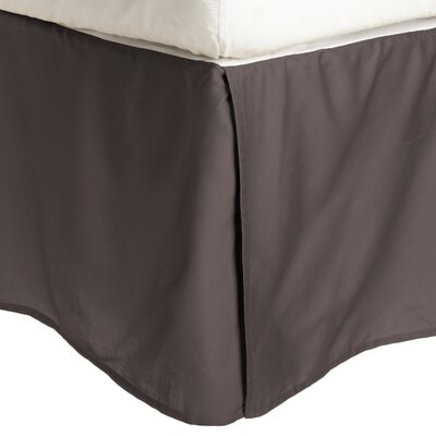Garrick Solid Bed Skirt Color: Charcoal, Size: King