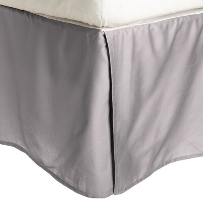 Granger Solid Bed Skirt Color: Gray, Size: King