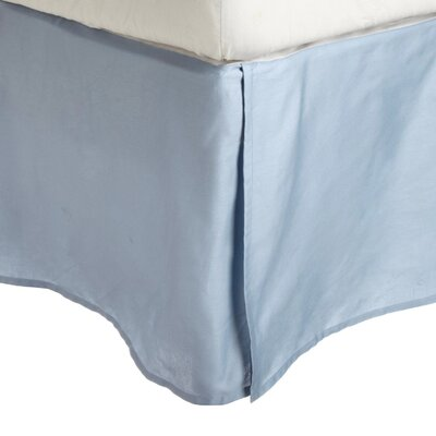 Garrick Solid Bed Skirt Color: Light Blue, Size: Queen