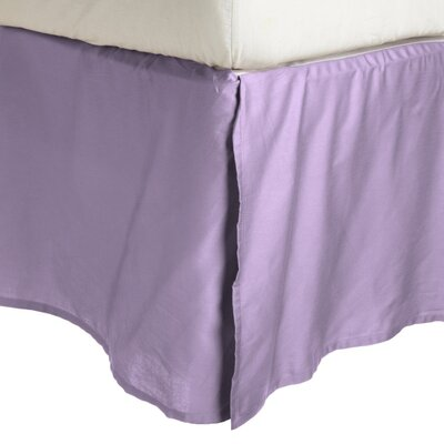 Garrick Solid Bed Skirt Color: Lilac, Size: Queen