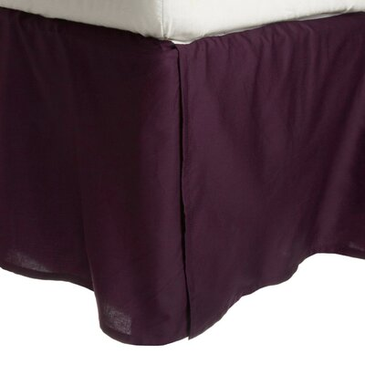 Granger Solid Bed Skirt Color: Plum, Size: King