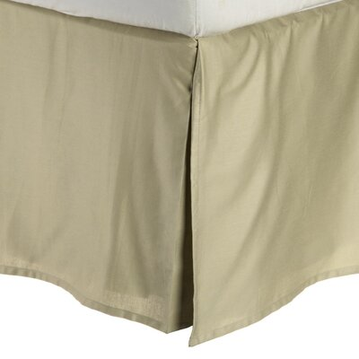 Granger Solid Bed Skirt Color: Sage, Size: Queen
