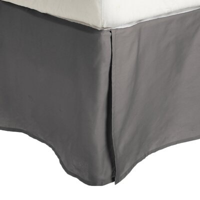 Granger Solid Bed Skirt Color: Silver, Size: Queen