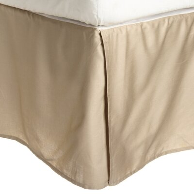 Granger Solid Bed Skirt Color: Tan, Size: King