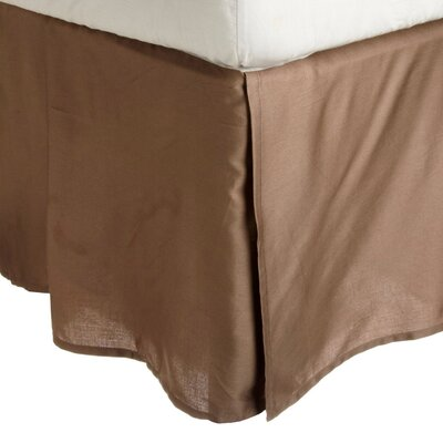 Granger Solid Bed Skirt Color: Taupe, Size: Queen