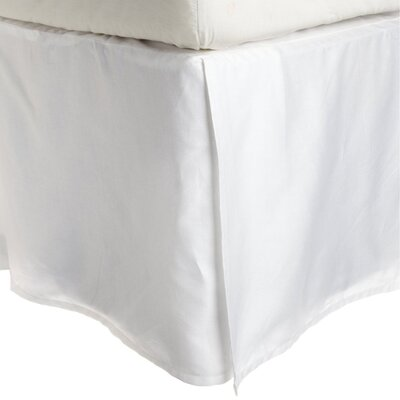 Granger Solid Bed Skirt Color: White, Size: King