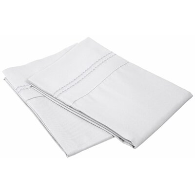 Granger Solid-2 Line Pillowcase Size: Standard, Color: White