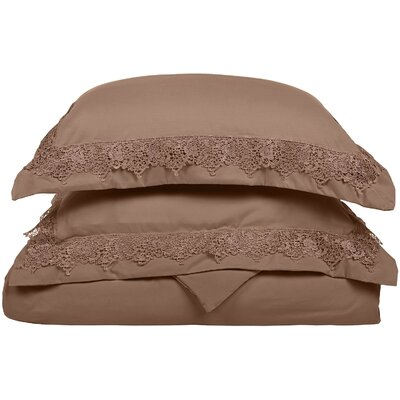 Smith Reversible Duvet Set Color: Taupe, Size: Full / Queen
