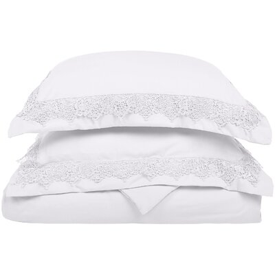 Smith Reversible Duvet Set Color: White, Size: Full / Queen