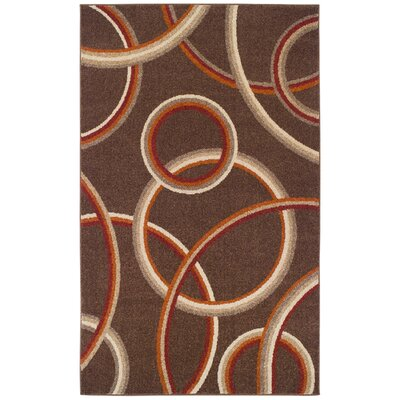 Meridian Brown Area Rug Rug Size: 4 x 6