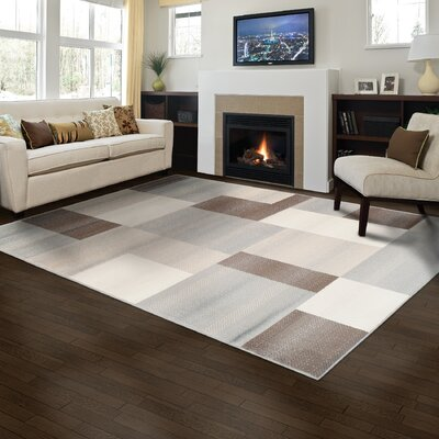 Svetlana Brown Area Rug Rug Size: 3 x 5