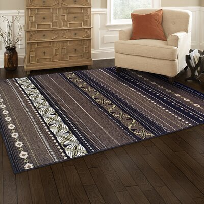 Martina Black/Beige Area Rug Rug Size: Rectangle 5 x 8