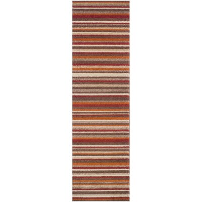 Horizon Brown Area Rug Rug Size: Runner 27 x 8