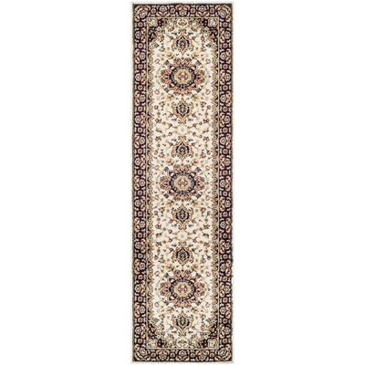 Edinberg Ivory/Red Area Rug Rug Size: Runner 23 x 8