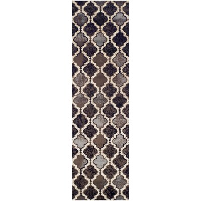 Lamoille Brown/Gray/Black Area Rug Rug Size: Runner 27 x 8