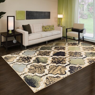 Lamoille Gray/Brown Area Rug Rug Size: Rectangle 4 x 6