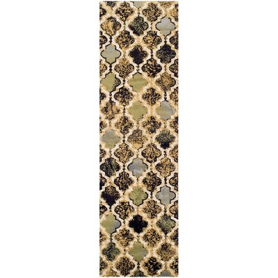 Lamoille Gray/Brown Area Rug Rug Size: Runner 27 x 8
