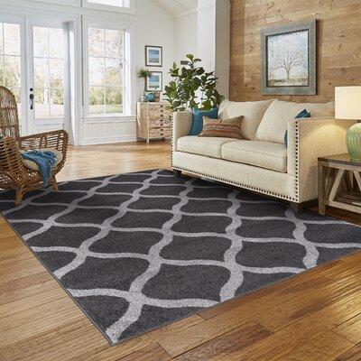 Modern Trellis Gray Area Rug Rug Size: 8 x 10
