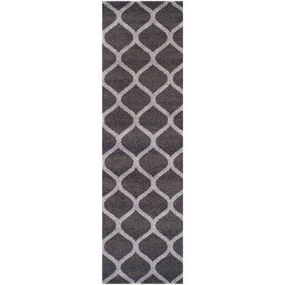 Modern Trellis Gray Area Rug Rug Size: Runner 27 x 8