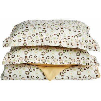 Impressions Reversible Duvet Cover Set Size: Full/Queen, Color: Beige