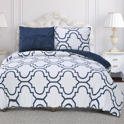 Valencia Duvet Cover Set Size: Full/Queen