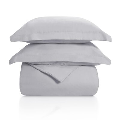 Benito Solid Duvet Cover Set Color: Light Gray, Size: King/California King