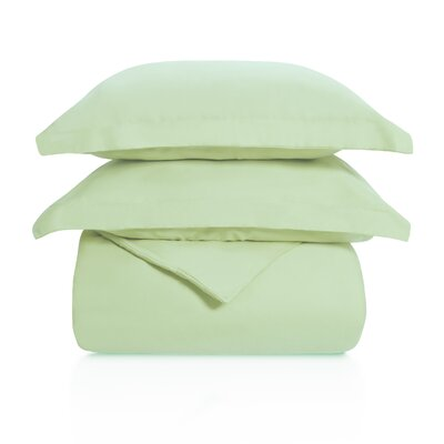 Benito Solid Duvet Cover Set Color: Mint, Size: Full/Queen