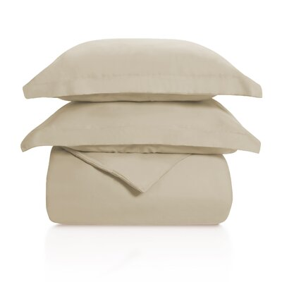 Benito Solid Duvet Cover Set Color: Tan, Size: Full/Queen