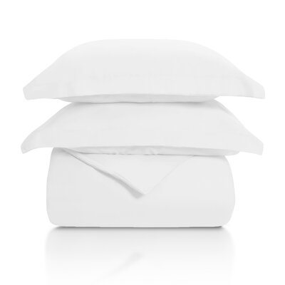 Benito Solid Duvet Cover Set Color: White, Size: Full/Queen