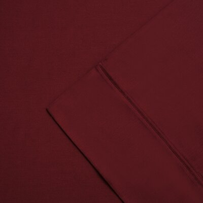 Cullen 300 Thread Count Cotton Wrinkle Resistant Pillow Case Color: Burgundy, Size: Standard/Twin