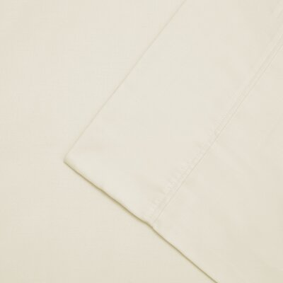 Cullen 300 Thread Count Cotton Wrinkle Resistant Pillow Case Color: Ivory, Size: Standard/Twin