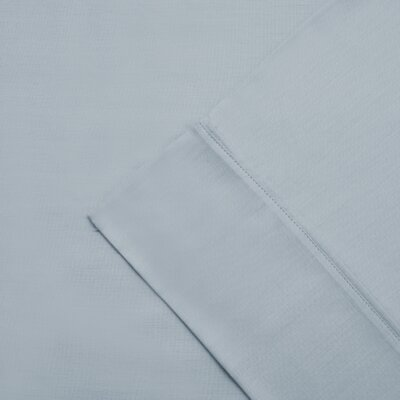 Larksville 300 Thread Count Cotton Wrinkle Resistant Pillow Case Color: Light Blue, Size: King