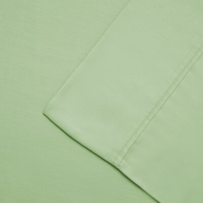 Cullen 300 Thread Count Cotton Wrinkle Resistant Pillow Case Color: Mint, Size: King