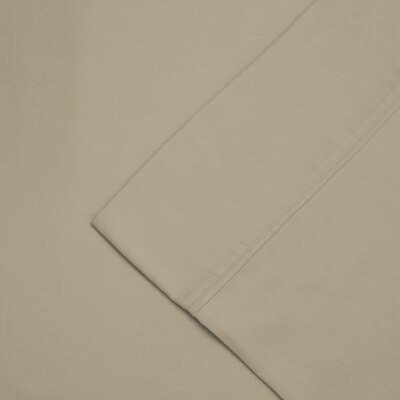 Cullen 300 Thread Count Cotton Wrinkle Resistant Pillow Case Color: Tan, Size: King
