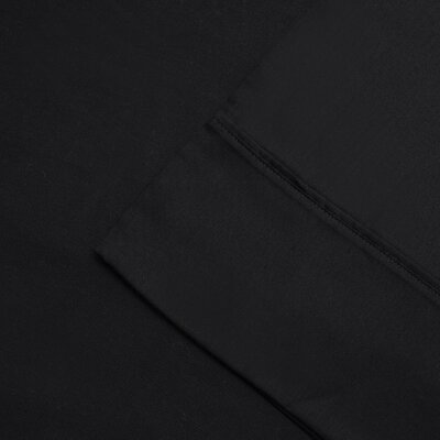 Cullen 300 Thread Count Cotton Wrinkle Resistant Pillow Case Color: Black, Size: Standard/Twin