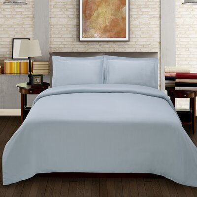 Benito Solid Duvet Cover Set Color: Light Blue, Size: King/California King