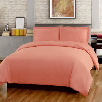Garris Duvet Cover Set Color: Coral, Size: Full/Queen