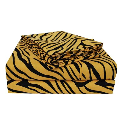 Impressions Microfiber Sheet Set Size: Full, Color: Leopard