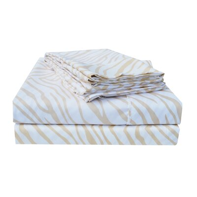 Impressions Microfiber Sheet Set Size: Full, Color: White