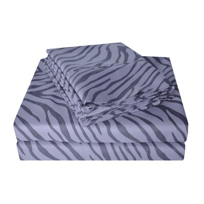 Impressions Microfiber Sheet Set Size: Twin, Color: Gray