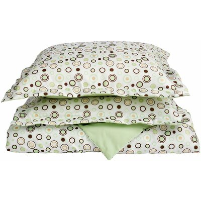 Impressions Reversible Duvet Cover Set Color: Sage, Size: Twin